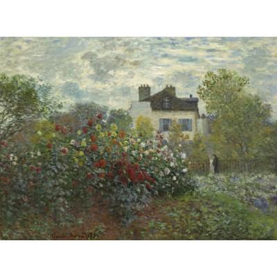 Puzzle  Grafika-01542 Claude Monet - Der Garten des Künstlers in Argenteuil, 1873