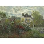 Puzzle  Grafika-01544 Claude Monet - Der Garten des Künstlers in Argenteuil, 1873