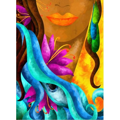 Puzzle  Grafika-01578 Macchia - The Hidden Woman