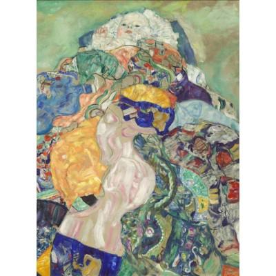 Puzzle  Grafika-01593 Gustav Klimt: Baby (Cradle), 1917-1918