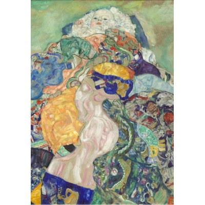 Puzzle  Grafika-01594 Gustav Klimt: Baby (Cradle), 1917-1918