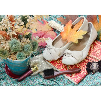 Puzzle  Grafika-01627 Vintage Dancing Shoes