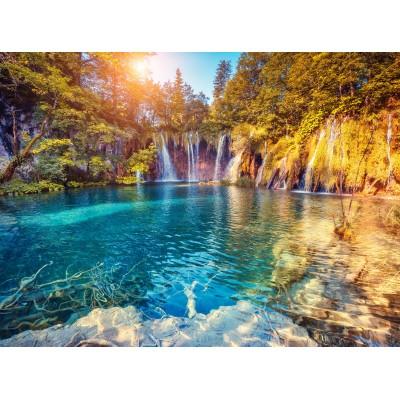 Puzzle  Grafika-01655 Nationalpark Plitvicer Seen, Kroatien