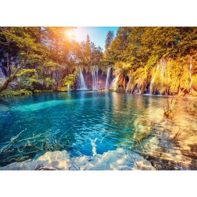 Puzzle  Grafika-01657 Nationalpark Plitvicer Seen, Kroatien