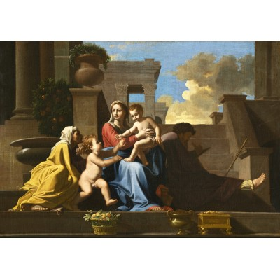 Puzzle  Grafika-01698 Nicolas Poussin: The Holy Family on the Steps, 1648