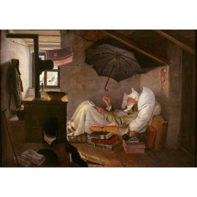 Puzzle  Grafika-01713 Carl Spitzweg - Der arme Poet, 1839