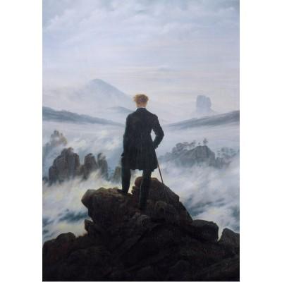 Puzzle  Grafika-01718 Caspar David Friedrich - Der Wanderer über dem Nebelmeer, 1818