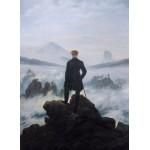 Puzzle  Grafika-01719 Caspar David Friedrich - Der Wanderer über dem Nebelmeer, 1818