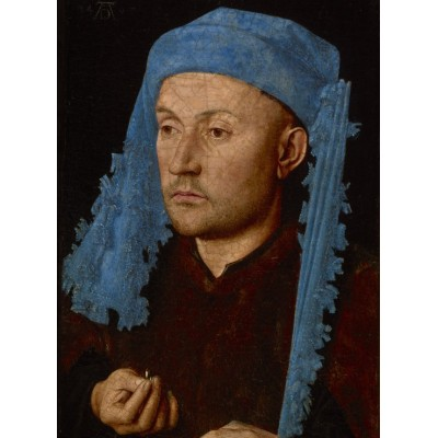 Puzzle  Grafika-01723 Jan van Eyck - Portrait of a Man with a Blue Chaperon, 1430-33