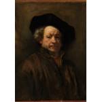 Puzzle  Grafika-01726 Rembrandt - Selbstporträt, 1660