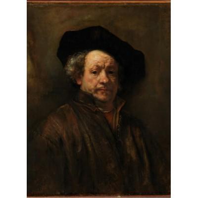Puzzle  Grafika-01727 Rembrandt - Selbstporträt, 1660
