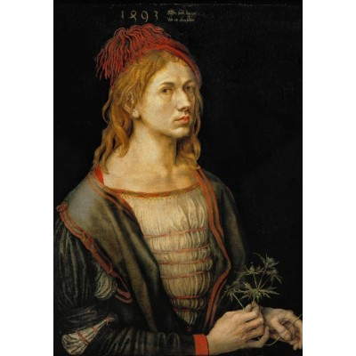Puzzle  Grafika-01738 Albrecht Dürer - Selbstbildnis mit Eryngium, 1493