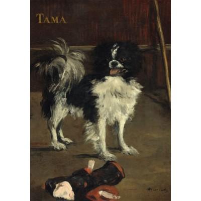 Puzzle  Grafika-01746 Edouard Manet: Tama: The Japanese Dog, 1875