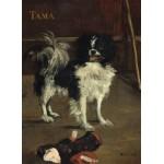 Puzzle  Grafika-01747 Edouard Manet: Tama: The Japanese Dog, 1875
