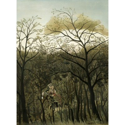Puzzle  Grafika-01753 Henri Rousseau: Rendezvous in the Forest, 1889