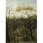 Puzzle  Grafika-01755 Henri Rousseau: Rendezvous in the Forest, 1889