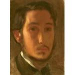 Puzzle  Grafika-01767 Edgar Degas: Self-Portrait with White Collar, 1857