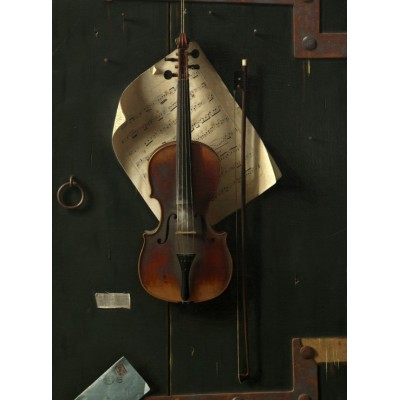 Puzzle  Grafika-01771 William Michael Harnett: The Old Violin, 1886