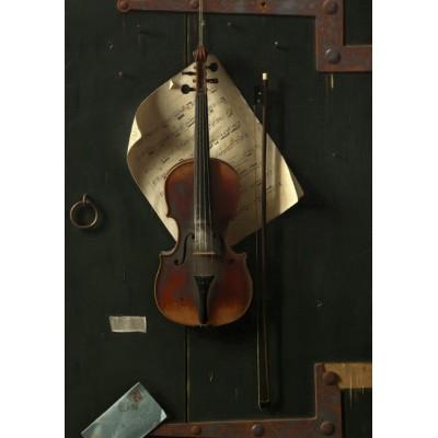 Puzzle  Grafika-01772 William Michael Harnett: The Old Violin, 1886
