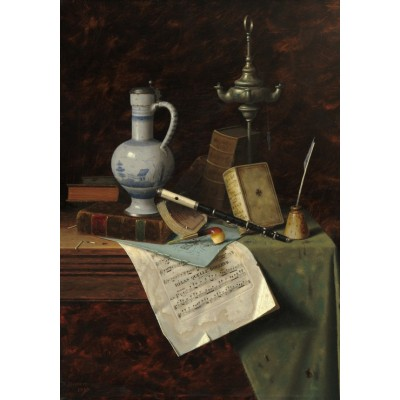 Puzzle  Grafika-01775 William Michael Harnett: My Gems, 1888