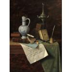 Puzzle  Grafika-01776 William Michael Harnett: My Gems, 1888