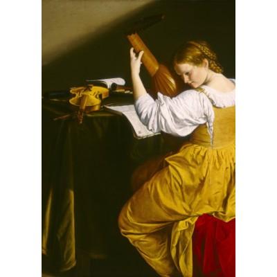 Puzzle  Grafika-01781 Orazio Gentileschi: The Lute Player, 1612/1620