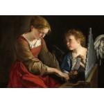 Puzzle  Grafika-01784 Orazio Gentileschi and Giovanni Lanfranco: Saint Cecilia and an Angel, 1617/1618