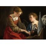 Puzzle  Grafika-01785 Orazio Gentileschi and Giovanni Lanfranco: Saint Cecilia and an Angel, 1617/1618