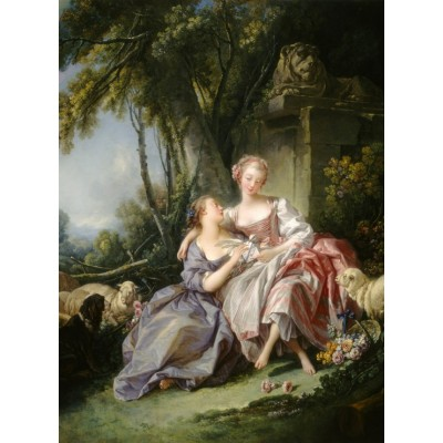 Puzzle  Grafika-01790 François Boucher : The Love Letter, 1750
