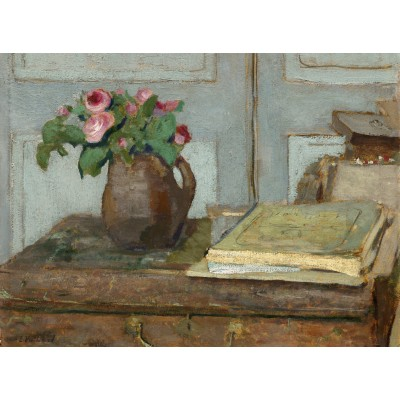 Puzzle  Grafika-01815 Edouard Vuillard: The Artist's Paint Box and Moss Roses, 1898