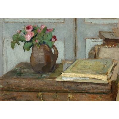 Puzzle  Grafika-01816 Edouard Vuillard: The Artist's Paint Box and Moss Roses, 1898