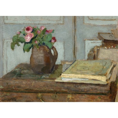 Puzzle  Grafika-01817 Edouard Vuillard: The Artist's Paint Box and Moss Roses, 1898