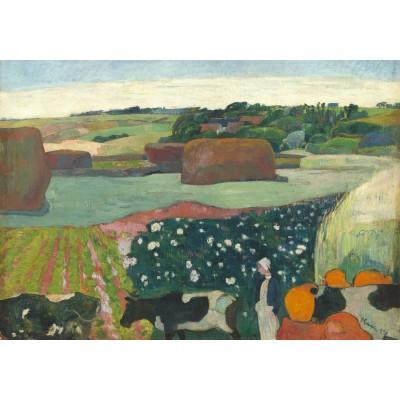 Puzzle  Grafika-01834 Paul Gauguin: Haystacks in Brittany, 1890