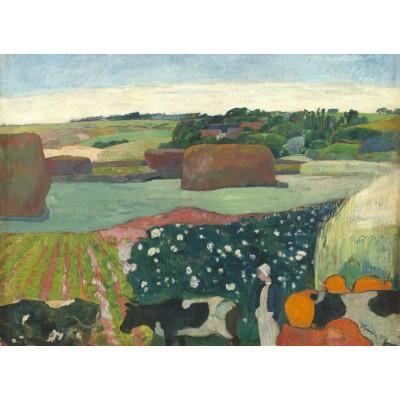 Puzzle Grafika-01835 Paul Gauguin: Haystacks in Brittany, 1890