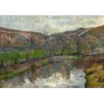 Puzzle  Grafika-01854 Paul Gauguin : Brittany Landscape, 1888