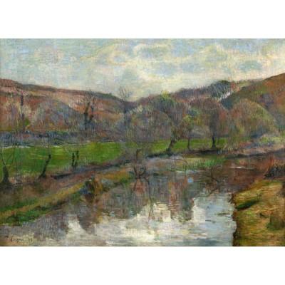Puzzle  Grafika-01855 Paul Gauguin : Brittany Landscape, 1888
