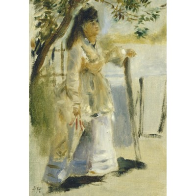 Puzzle  Grafika-01860 Auguste Renoir: Woman by a Fence, 1866