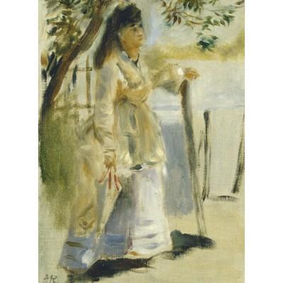 Puzzle  Grafika-01861 Auguste Renoir: Woman by a Fence, 1866