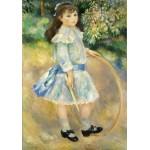 Puzzle  Grafika-01871 Auguste Renoir : Girl with a Hoop, 1885