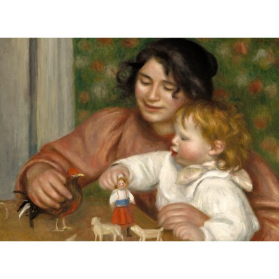 Puzzle  Grafika-01879 Auguste Renoir: Gabrielle and the Artist's Son, Jean, 1895-1896