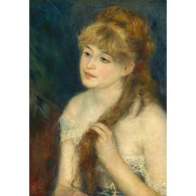 Puzzle  Grafika-01895 Auguste Renoir: Young Woman Braiding Her Hair, 1876