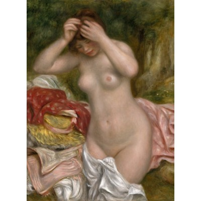 Puzzle  Grafika-01897 Auguste Renoir: Bather Arranging Her Hair, 1893