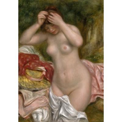 Puzzle  Grafika-01898 Auguste Renoir: Bather Arranging Her Hair, 1893