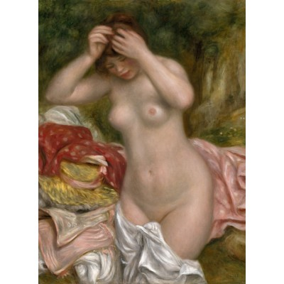 Puzzle  Grafika-01899 Auguste Renoir: Bather Arranging Her Hair, 1893
