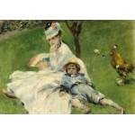 Puzzle  Grafika-01901 Auguste Renoir: Madame Monet and Her Son, 1874