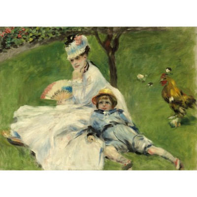 Puzzle  Grafika-01902 Auguste Renoir: Madame Monet and Her Son, 1874