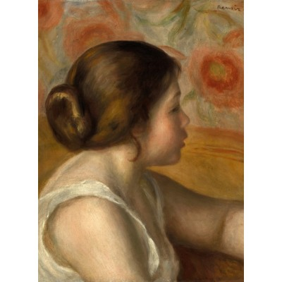Puzzle  Grafika-01905 Auguste Renoir: Head of a Young Girl, 1890