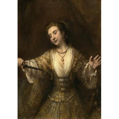 Puzzle  Grafika-01919 Rembrandt : Lucretia, 1664