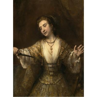 Puzzle  Grafika-01920 Rembrandt : Lucretia, 1664