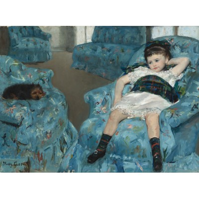 Puzzle  Grafika-01921 Mary Cassatt: Little Girl in a Blue Armchair, 1878